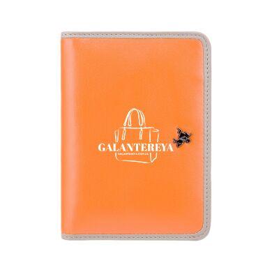 Кожаная обложка для паспорта Visconti RD93 Hummingbird Orange Taupe