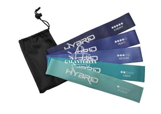 Резинка для фитнеса HYBRID набор 5 штук HB001