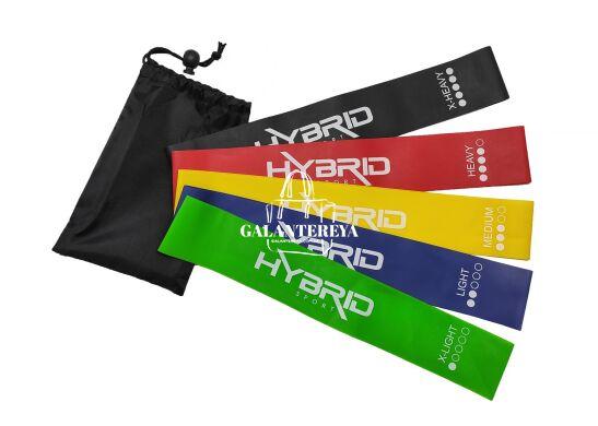 Резинка для фитнеса HYBRID набор 5 штук HB002