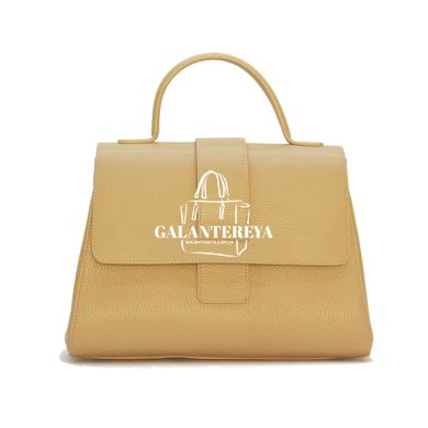Женская кожаная сумка Italian fabric bags 2304 beige