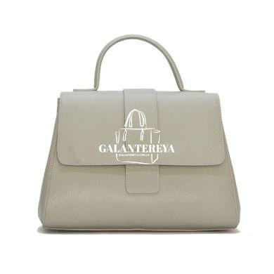 Женская кожаная сумка Italian fabric bags 2304 gray