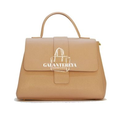 Женская кожаная сумка Italian fabric bags 2304 pudra