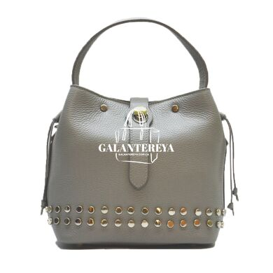 Женская кожаная сумка Italian fabric bags 2402 gray