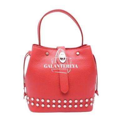 Женская кожаная сумка Italian fabric bags 2402 red
