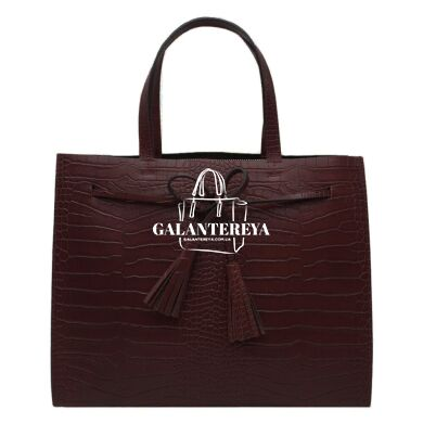 Женская кожаная сумка Italian fabric bags 2577 marsala