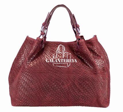 Женская кожаная сумка Italian fabric bags 2596 bordeaux