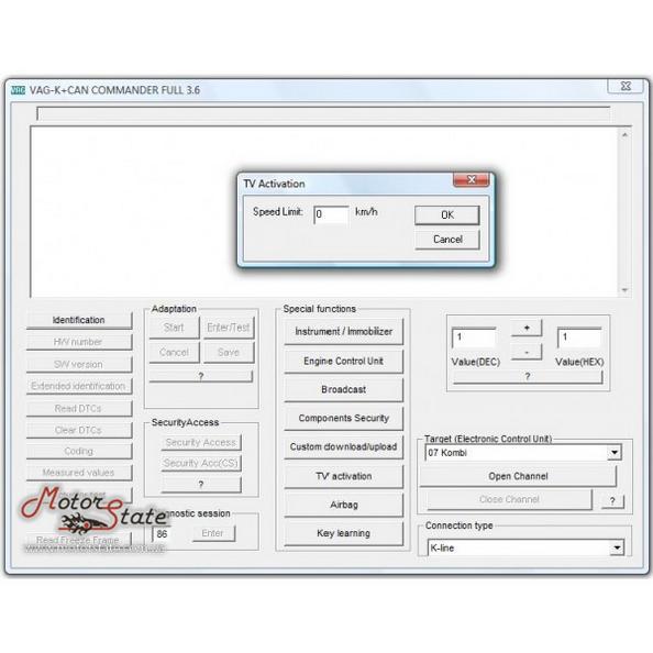 ВАГ Коммандер 3.6 (VAG Commander 3.6 K+CAN). Адаптер для смотки одометра, работы с ИММО и удалять ошибки Airbag