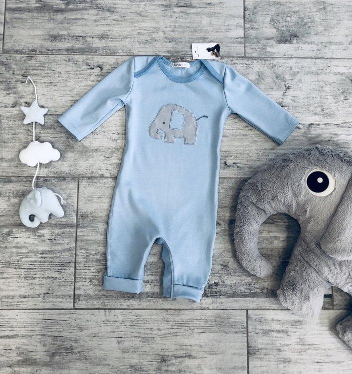 """Человечек голубой открытые ножки """"Elehlant""""от 3 до 18 месяцев"""