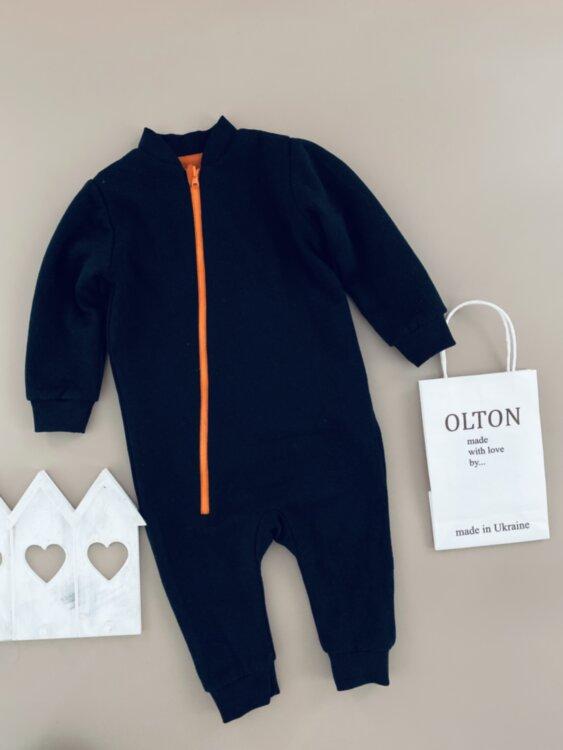 Человечек двухсторонний оранжево-черный от 6 до 18 месяцев