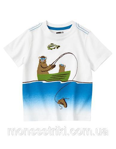 Детская футболка для мальчика 6-12, 12-18 месяцев