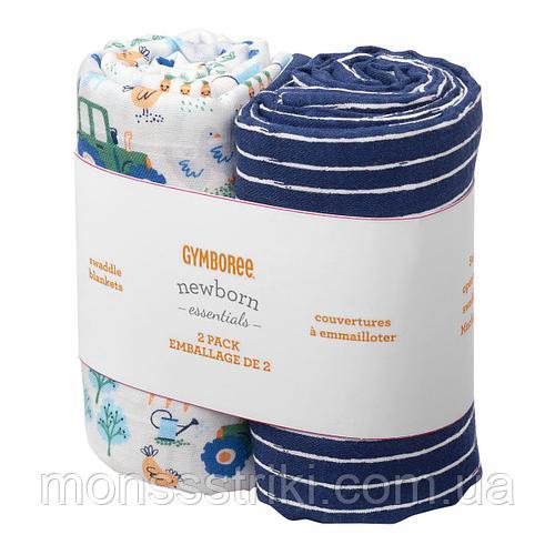 Муслиновые пеленки (2 шт) 107 х 107 см