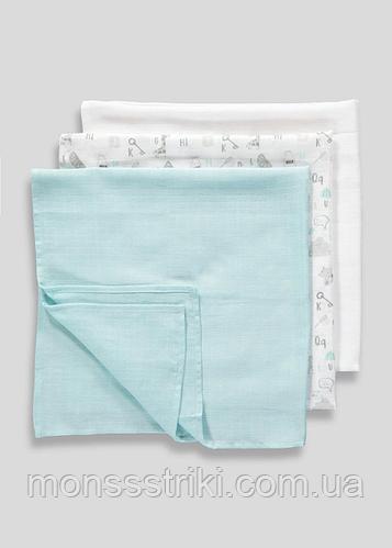 Муслиновые пеленки для новорожденных (3 шт) 70 х 70 см