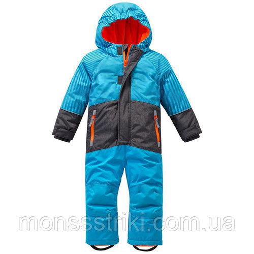 Детский зимний термокомбинезон для мальчика 9-12, 18-24 месяца