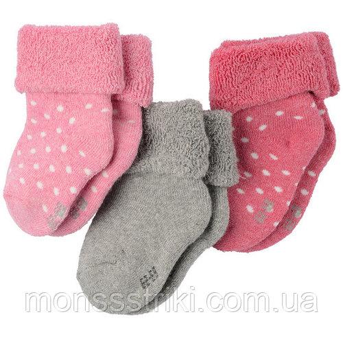 Махровые носочки для новорожденного (3 пары) 1-2, 2-6 месяцев