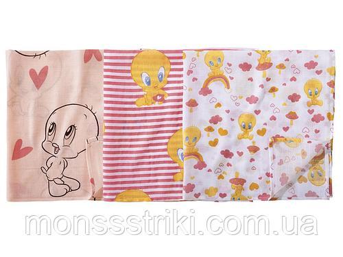 Муслиновые пеленки для новорожденных (3 шт) 78 х 78 см