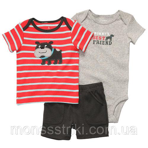 Летний детский комплект Carters 3в1 12 месяцев