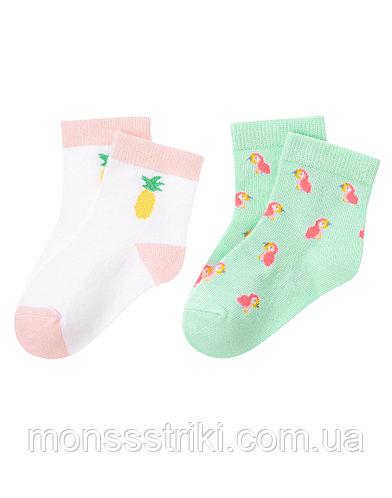 Детские носочки для девочки (2 пары) 2-3 года