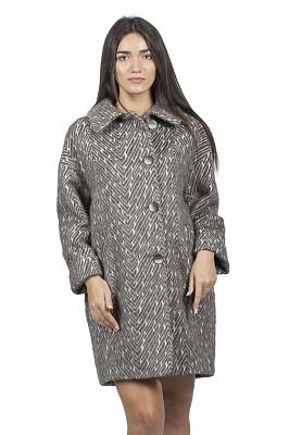 Женское пальто Teresa Tardia 51003 (синий, коричневый)