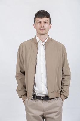 Мужская куртка Kuper 60509 (бежевый, черный)