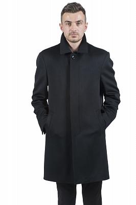 Мужское пальто Kuper 51735 (черный, тёмносиний)