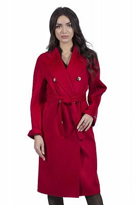 Женское пальто Stella Polare 51217 (кэмел, бордо)