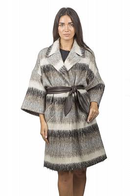 Женское пальто Teresa Tardia 50996 (серый, бежевый)