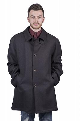 Мужское пальто Kuper 51791 (черный, коричневый)