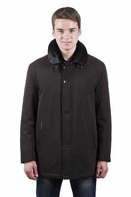 Мужская куртка Kuper 51417 (черный, коричневый)