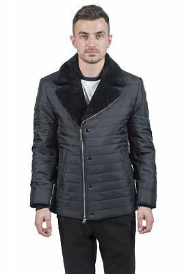 Мужская куртка City Class 51452 (черный, коричневый)