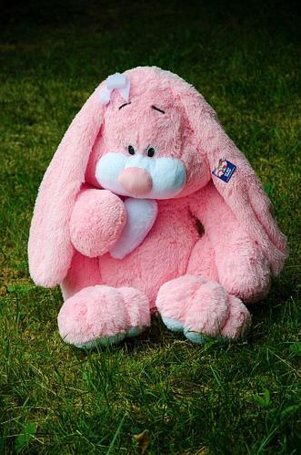 Плюшевый зайка Кнопочка 120 см. Розовый