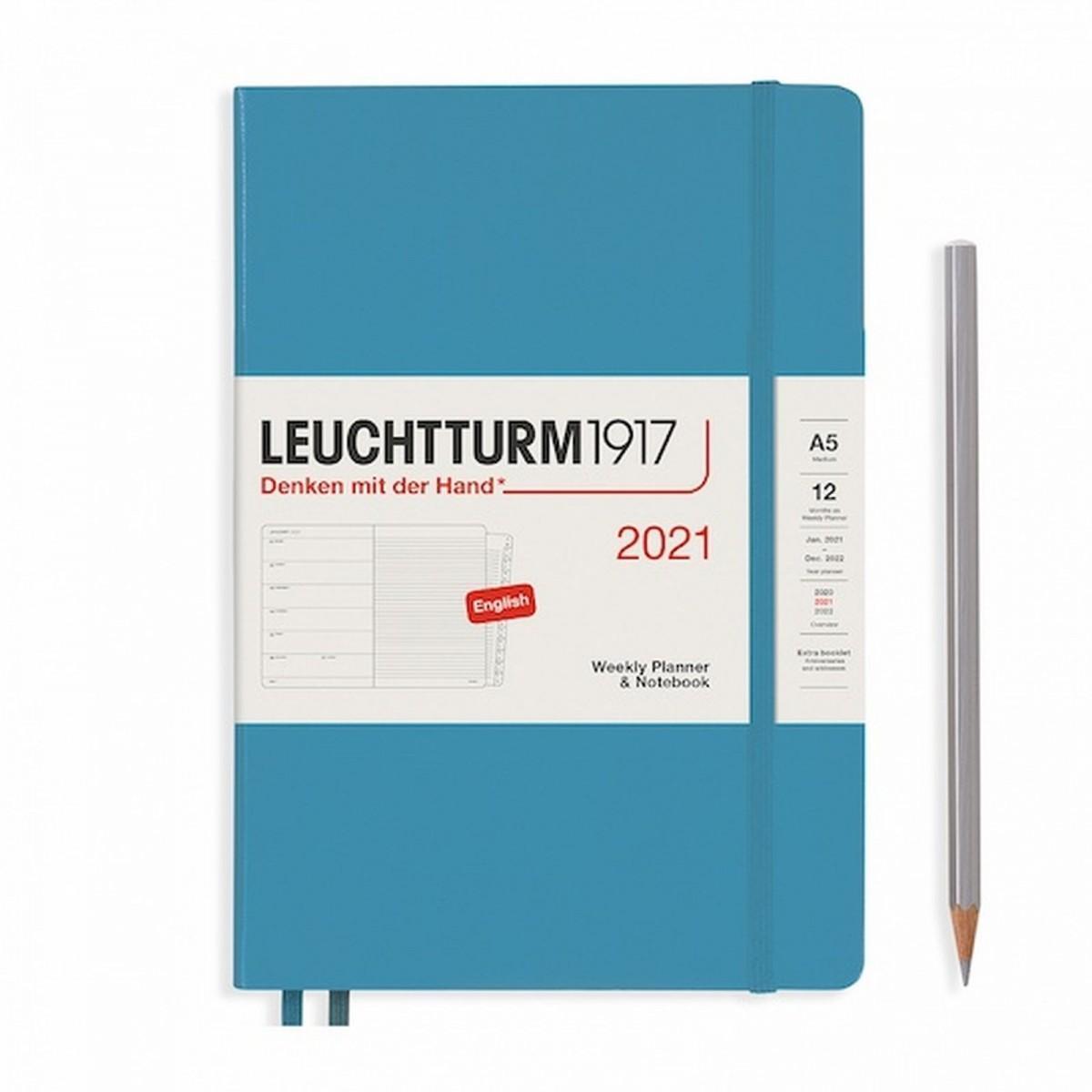 Щотижневик з нотатками Leuchtturm1917 Medium (А5) Холодний синій 2021