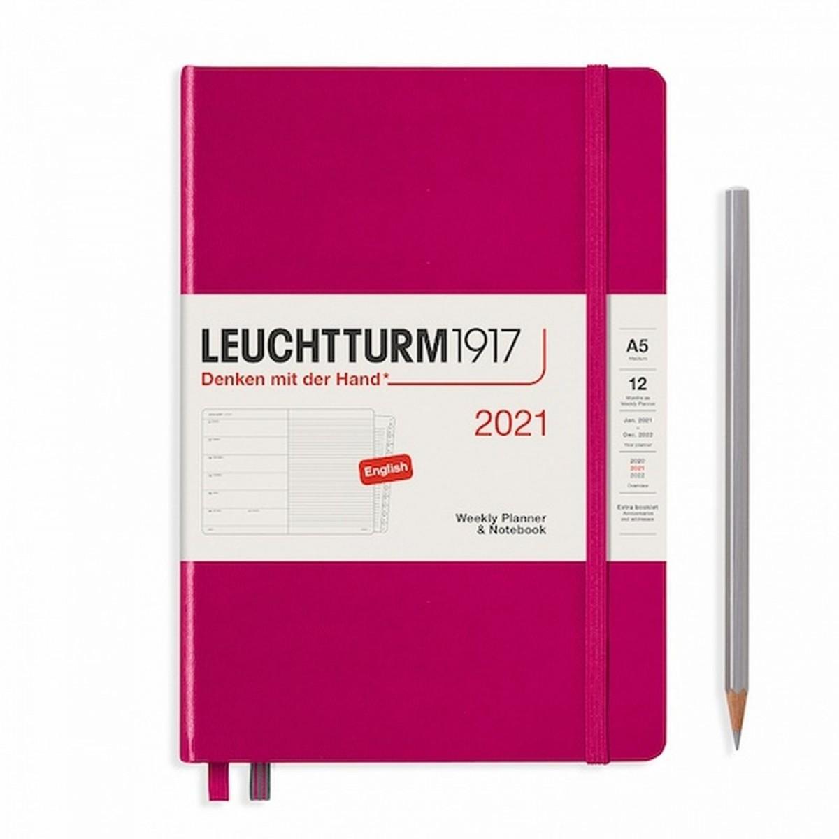 Щотижневик з нотатками Leuchtturm1917 Medium (А5) Ягідний 2021