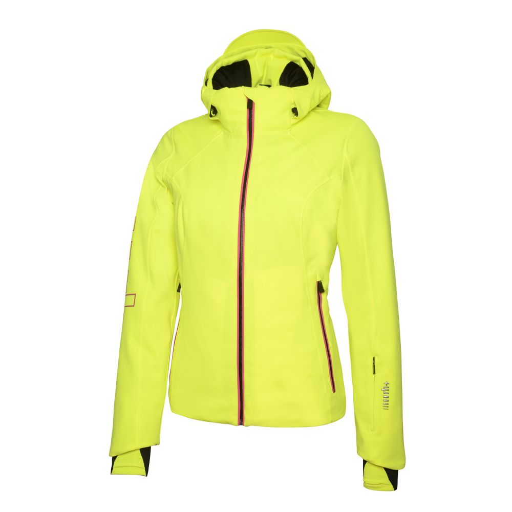 logo w jacket fluo yellow - pop pink