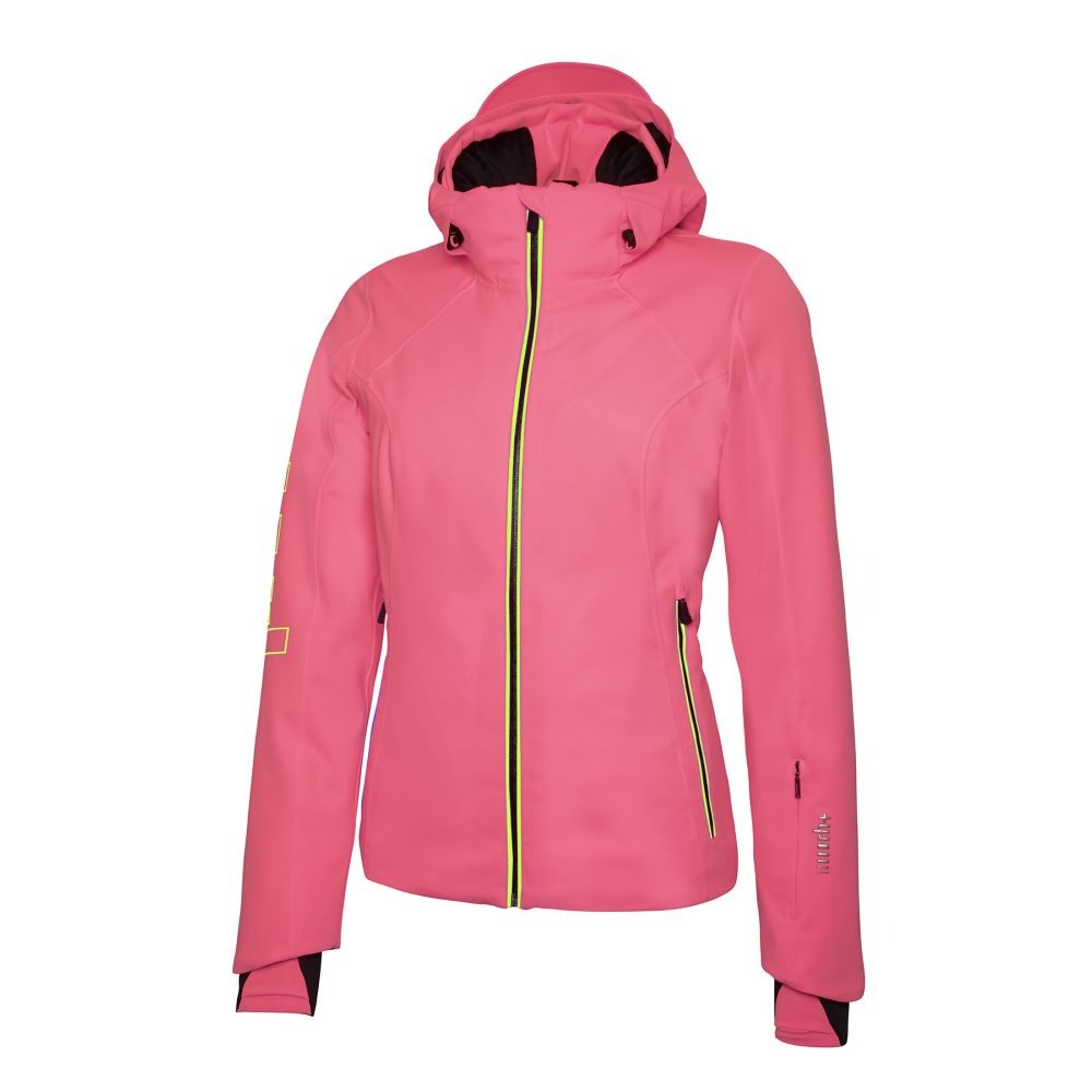 logo w jacket fluo pink - fluo yellow