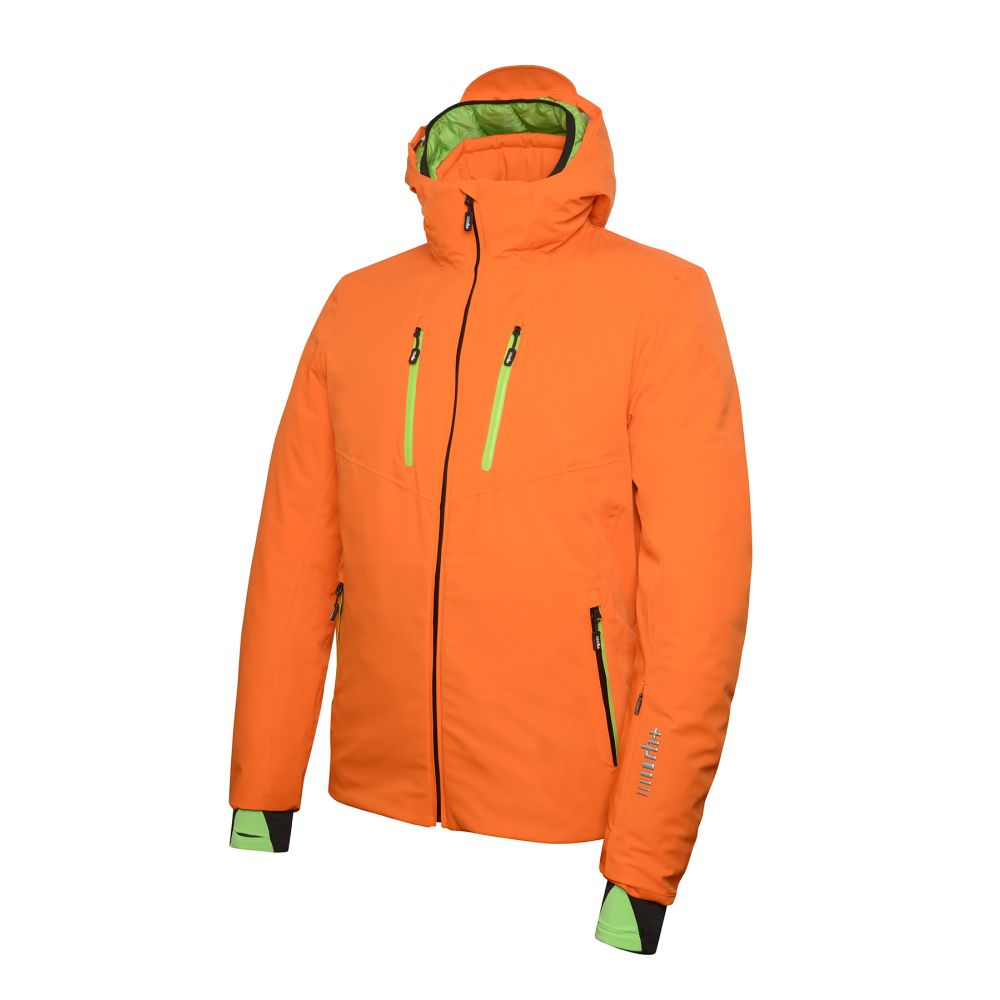 powder jacket orange - flash green
