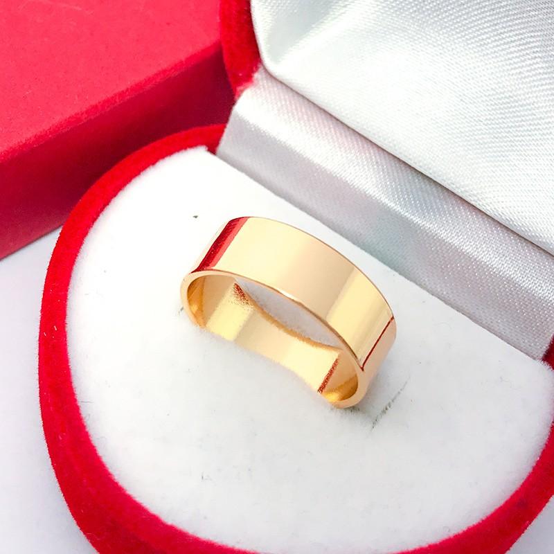 Кольцо Американка Широкая 20,5 р. (медицинское золото) (6511)