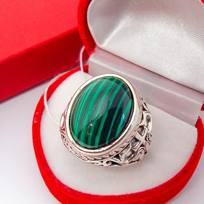 Кольцо Перстень Софи Малахит 19 р. (натуральный камень) (6835)