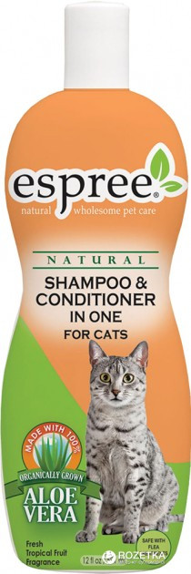 Шампунь и кондиционер Espree Shampoo and Conditioner In One for Cats для котов 355 мл (е01082)