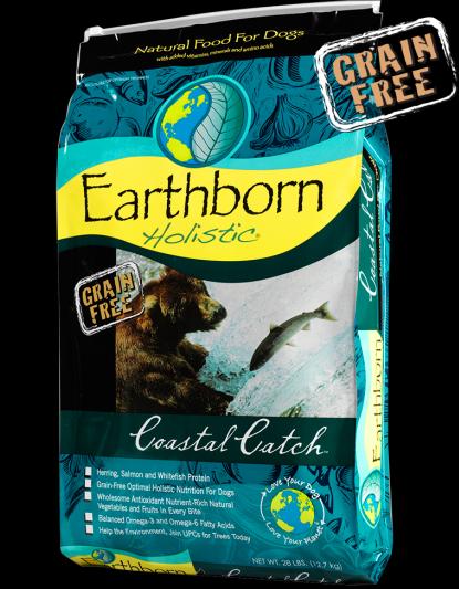 Сухой корм для взрослых собак беззерновой с белой рыбой, фруктами и овощами Earthborn Holistic Coastal Catch