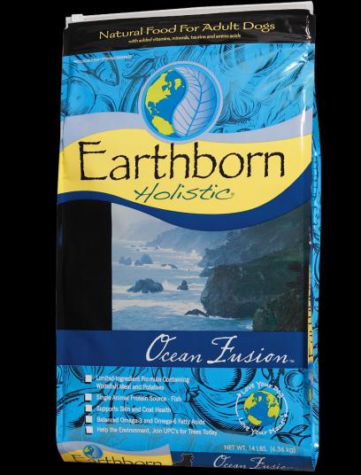 Сухой корм для взрослых собак всех пород с белой рыбой и картофелем Earthborn Holistic Ocean Fusion