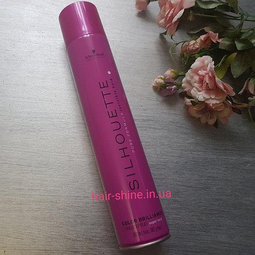 Лак яркость цвета суперсильной фиксации Schwarzkopf Silhouette Color Brilliance Hairspray Super Hold 750 ml
