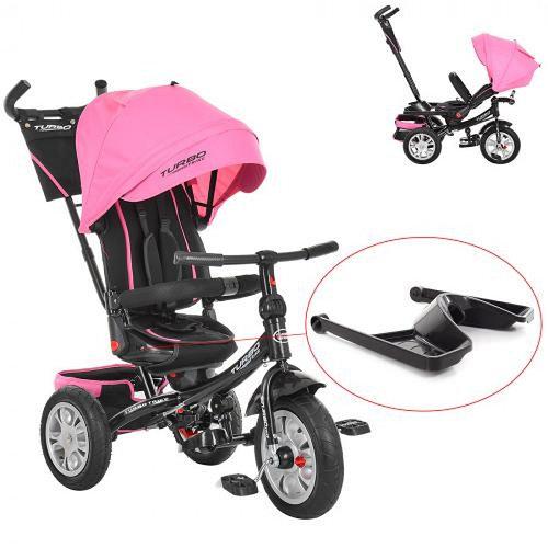 Велосипед трехколесный TURBOTRIKE M 3646 А нежно-розовый