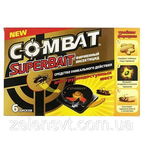 Эффективная ловушка для уничтожения тараканов в Combat SuperBait (Комбат) (6 дисков)