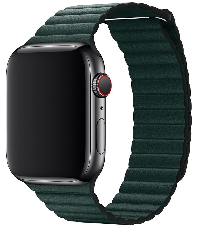 Ремешок Leather Loop Band для Apple Watch 38mm (Green)