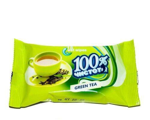 Салфетки влажные 100% чистоты (15шт.)
