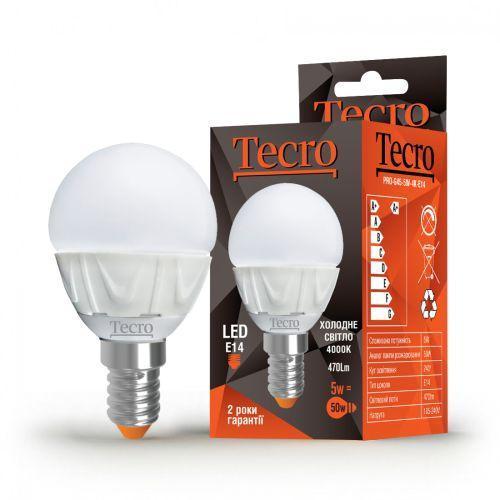 Лампа LED TECRO PRO-G45-5W-4K-E14