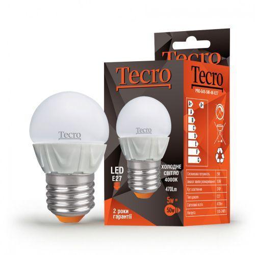 Лампа LED TECRO PRO-G45-5W-4K-E27