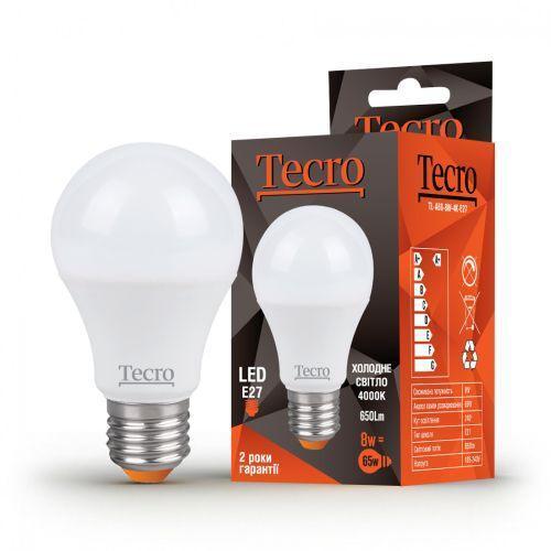 Лампа LED TECRO TL-A60-8W-4K-E27