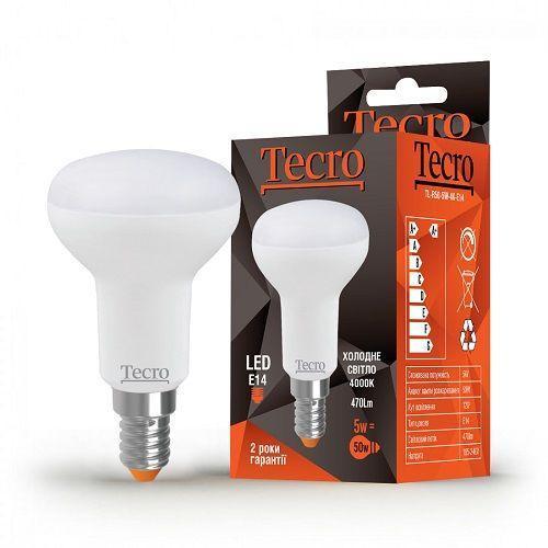 Лампа LED TECRO TL-R50-5W-4K-E14