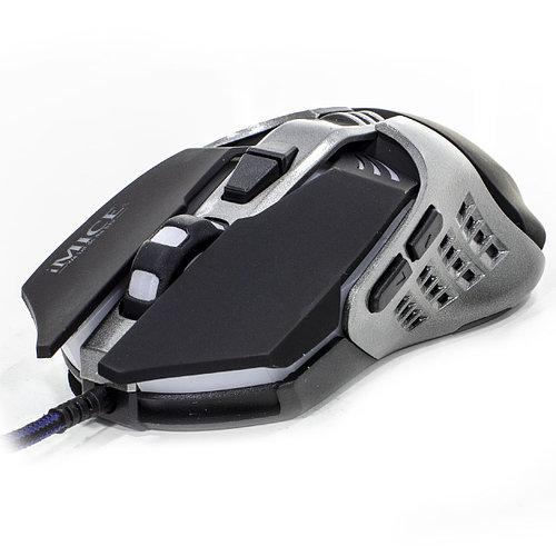 Мышь iMICE V5 Black проводная игровая разрешение сенсора 3200 DPI 7 кнопок лазерная светодиодная